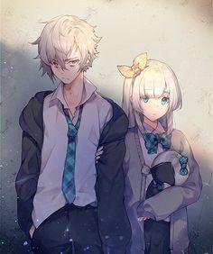 Nagu on - Anime Anime Chibi, Kawaii Anime, Art Anime, Anime Art Girl, Manga Anime, Manga Couple, Anime Love Couple, Anime Couples Manga, Anime Guys