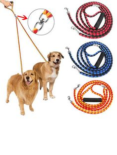 I found this amazing 3 Colors Double Leash For Two Dogs Braided Dual Leash Coupler For Walking Dogs with US$12.99,and 14 days return or refund guarantee protect to us. --Newchic Two Dogs, Large Dogs, Make Money Now, Dog Leash, Black N Yellow, New Friends, Clothes For Sale, Pet Supplies, Braids