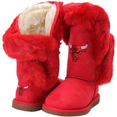 Women's Cuce Shoes Red Chicago Bulls Champions Boots