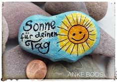 Painted Stone Painting  Stone - Painted Stones & Old Wood - bemalte Steine & altes Holz. Stone Art, You Are The Father, Stone Painting, Rock Painting, Xmas Gifts, Rock Art, Pin Collection, Painted Rocks, Fathers Day Gifts