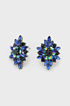Crystal Fia Earrings in Sapphire | Women's Clothes, Casual Dresses, Fashion Earrings & Accessories | Emma Stine Limited