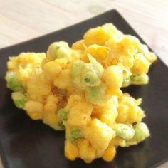 トウモロコシと枝豆のかき揚げ