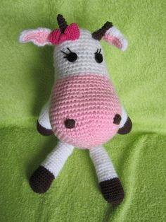 Cow crochet toy amigurumi hanmade toy Lilly the by ContesDeFees, $43.00