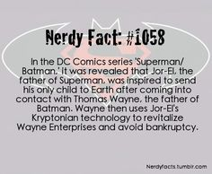 Nerdy Facts #1058: Superman/Batman