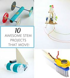 School age 10 Awesome STEM Projects for Kids that Move! Stem Science, Science Experiments Kids, Science Fair, Science For Kids, Science Games, Physical Science, Science Education, Earth Science, Stem Projects For Kids