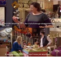 Love Miranda, not savoury muffins