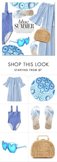 """blue summer"" by fshionme ❤ liked on Polyvore featuring Kayu, vintage and Summer"