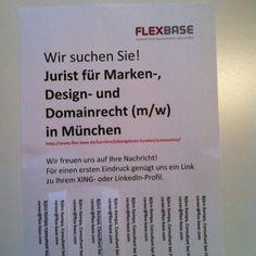 #HR #Pinterest #Kreativitaet: Wir suchen: Jurist für Marken- und Domainrecht (m/w).