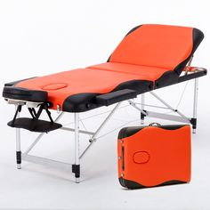 70cm Wide 3 Section Portable Massage Table Aluminum Facial SPA Bed Tattoo w/Free Carry Case Salan Furniture Spa Bed Tattoo Chair #Affiliate