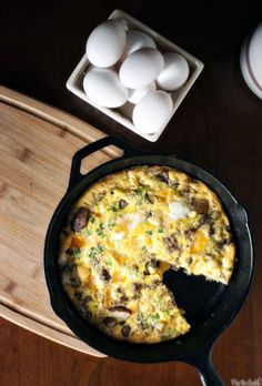 Cheesy Potato and Sausage Frittata