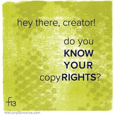 Did you know copy*right* is actual a lil bundle o' rights? Quick, can you name all 4? Head on over to our blog (link in profile) for the scoop—in a tidy 150 word package. #f13creative #copyright #intellectualproperty