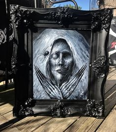 Framed 🕷💀 follow the link in my bio to my shop or at etsy.com/shop/zackdunnart or email me at zachery.r.dunn@gm... #Sullen #darkart #horror #handmade #arts_help #horrorart #oiloncanvas #oilpainting #originalart #instaart #instagood #instagram #instalike #instadaily #zackdunn #art #arte #artsy #artist #etsy #artcollective #artfido #artgallery #thehorrorgallery #creepy #etsy #gore #followme #trekell