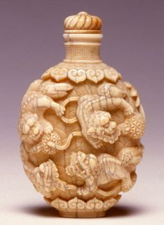 An ivory carved snuff bottle.