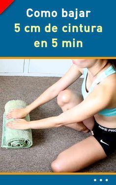 Como bajar 5 cm de cintura en 5 min