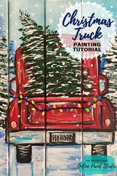 Learn How to Paint this Christmas Truck with The Social Easel Online Paint Studio Acrylic Painting Learn How to Paint this Christmas Truck with The Social Easel Online Paint Studio Acrylic Painting The Social Easel Online nbsp hellip Basic Painting, Acrylic Painting Tips, Canvas Painting Tutorials, Easy Canvas Painting, Diy Painting, Painting Techniques, Painting Videos, Moon Painting, Step By Step Painting