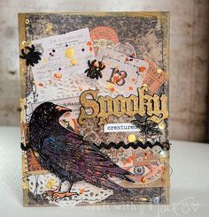 Spooky (Halloween) card with 2015 Tim Holtz products