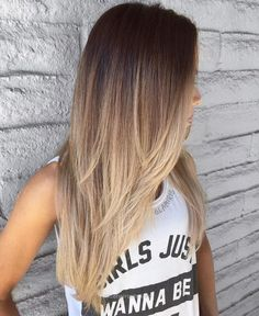 **** this cut and cascading ombré ***** #goals Long Layered Brown To Blonde Om… **** this cut and cascading ombré ***** #goals Long Layered Brown To Blonde Ombre http://www.nicehaircuts.info/2017/06/11/this-cut-and-cascading-ombre-goals-long-layered-brown-to-blonde-om/