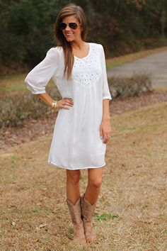Something Blue Dress, White | The Mint Julep Boutique