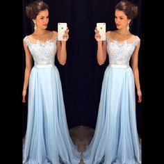 Long Evening Dresses 2016 New Arrival Formal Dresses Sweetheart Chiffon Blue Floor Length robe de soiree-in Evening Dresses from Weddings & Events on Aliexpress.com | Alibaba Group