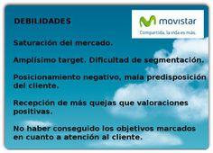 Debilidades. Análisis DAFO Movistar.