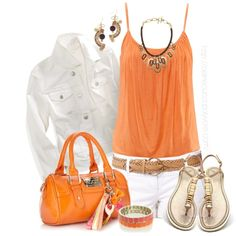 Orange, White and Gold :)