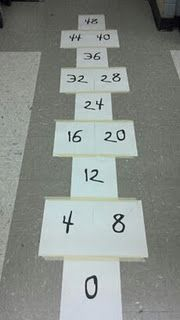 Skip counting hopscotch.  I'd use it when teaching multiples!