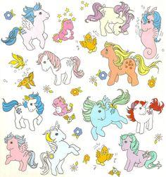 My Little Pony old art . Vintage My Little Pony, Original My Little Pony, Childhood Toys, Childhood Memories, My Little Pony Tattoo, Filly, Little Poney, Kawaii, Illustrations