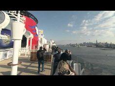 L'arrivée du Disney Fantasy à New York le 28 février 2012.