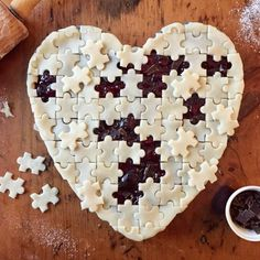 "Puzzle piece ""Autism Awareness"" pie. Part of proceeds goes to help Autism Awareness!"