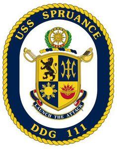 USS Spruance (DDG 111) ship crest