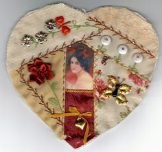 I ❤ crazy quilting . . . From Sandie W. Hearts received ~By Iris Susan