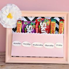 Turn old photo frames into a fun gift!