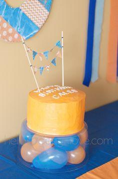 Birthday cake for water war theme.
