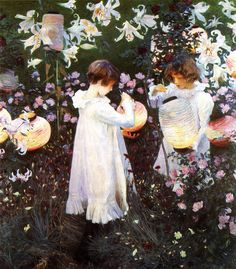 Carnation Lily Lily Rose 1885-1886 | John Singer Sargent | Oil Painting