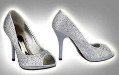 Obuv | Luxusní boty 104 - stříbrné | PrincessDress