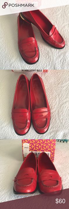 Tory Burch loafer Beautiful red Tory Burch loafer Tory Burch Shoes Flats & Loafers