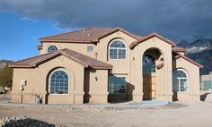 Exterior Custom Home Views - Lee Michael Homes Custom Builders in Albuquerque NM Custom Builders, New Mexico, Custom Homes, Nest, Floor Plans, Exterior, Mansions, House Styles, Home Decor