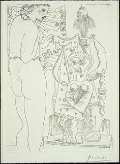 Pablo Picasso: Model and Surrealist Sculpture, Finnish National Gallery / Ateneum Art Museum. Pablo Picasso, Kunst Picasso, Picasso Art, Picasso Paintings, Picasso Portraits, Picasso Sketches, Picasso Drawing, Picasso Prints, Hans Arp