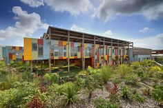View the full picture gallery of Ecole Ary Payet Tropical Architecture, School Architecture, Landscape Architecture, Building Architecture, Kindergarten Design, Social Housing, School Building, Library Design, Urban Design