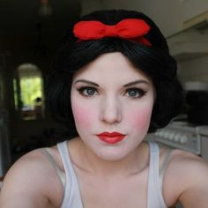 Makeup - these eyes, a little less blush, red lips