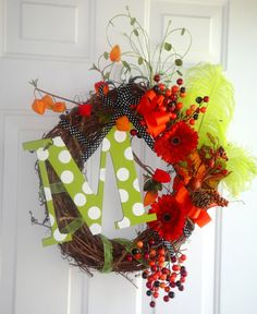 pretty Fall Thanksgiving wreath