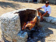Spit roast lamb in #Turkey, near #Fethiye