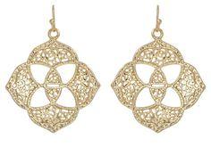 Kendra Scott Dawn Filigree Medallion Earrings in 14K Gold Plated