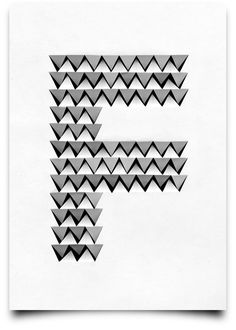 """F""    Type Scan Alphabet by Tony Ziebetzki (via Behance via @Darren Booth)"