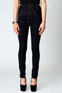 High Waist Denim Skinny Jeans