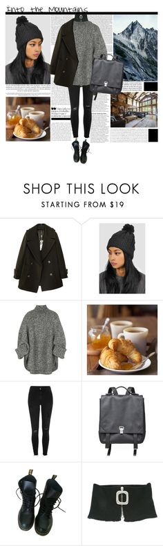 """""""Into the Mountains"""" by ebeleroderick ❤ liked on Polyvore featuring Kevin O'Brien, The Left Bank, Michael Kors, Williams-Sonoma, River Island, Proenza Schouler, Dr. Martens and J.W. Anderson"""
