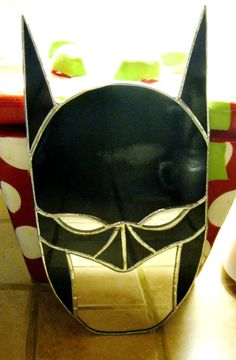Batman me Stained Glass Mirror by GlassKissinCreations on Etsy
