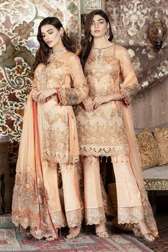 Maryams Gold Vol 3 Luxury Embroidered Collection 2019 Clothing Studio, Pakistani Dresses Online, Pakistani Designer Suits, Pakistani Street Style, Eid Collection, Wedding Suits, Vogue, Clothes For Women, Lady