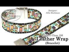 Learn to make this fun leather wrap design using a variety of different Tila Beads, including the Half Tila and Quarter Tila. If you want to make this, watch the tutorial and get supplies from www.PotomacBeads.com