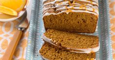 Pumpkin gingerbread with orange glaze perfect for a fall morning.